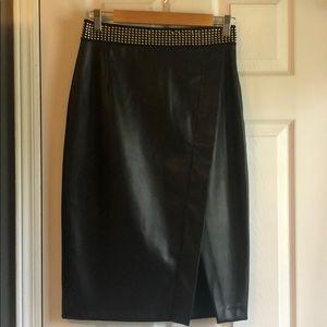 Gorgeous Black faux leather Zara skirt size M
